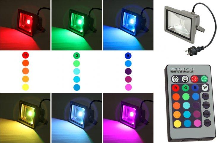 Светодиодный прожектор rgb 20w